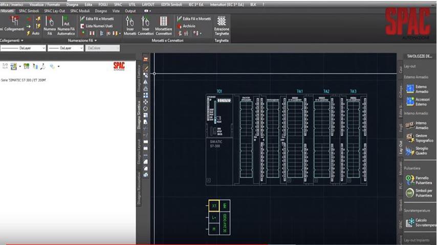Schema Elettrico Dwg : Spac automazione il cad elettrico di progettazione per l